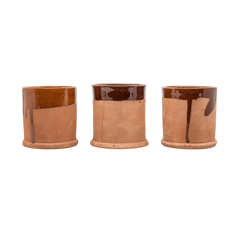 Terracotta Cups, Set of 4