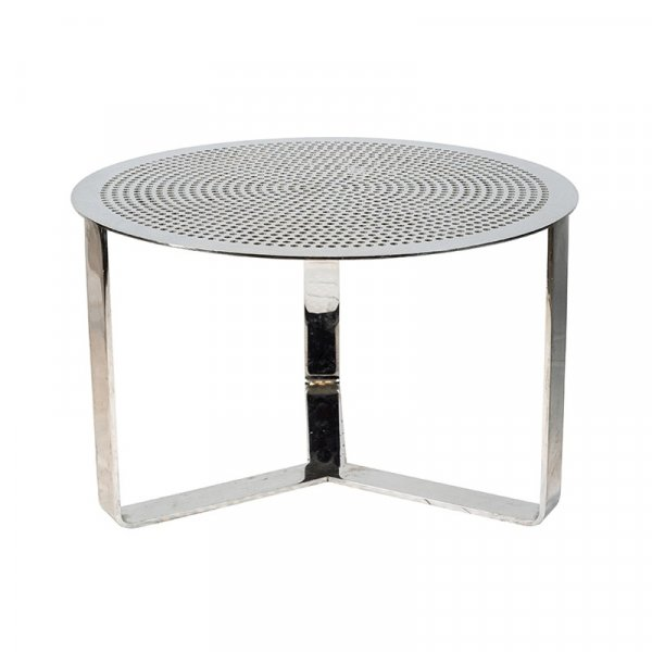 Pierced Top Metal Table