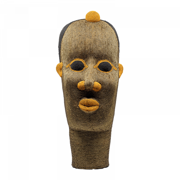 Large Terracotta Beaded Head Ornament