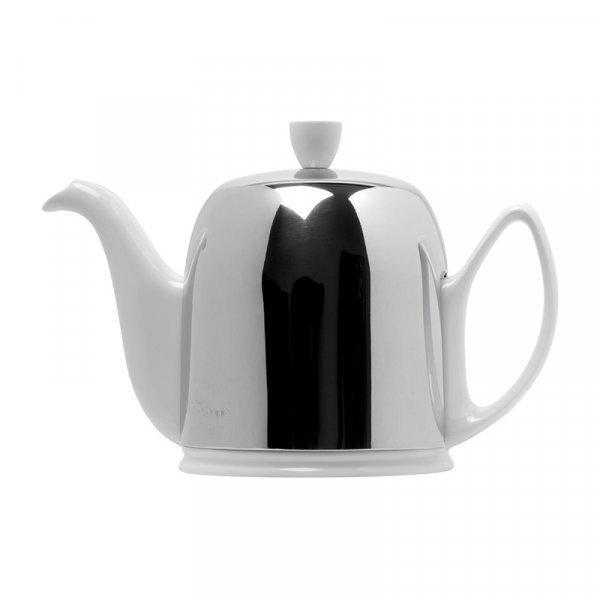 Salam White 6 cups Tea Pot With Black Felt Bright