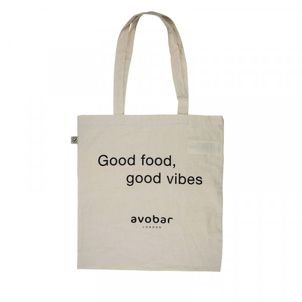 White Good Food  Organic Cotton Tote Bag