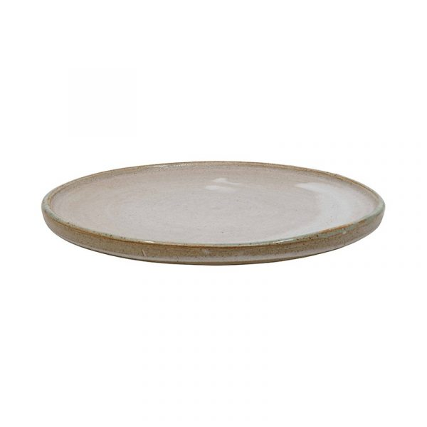 Large Mint and White Terracotta Plates, Set of 4 or 6