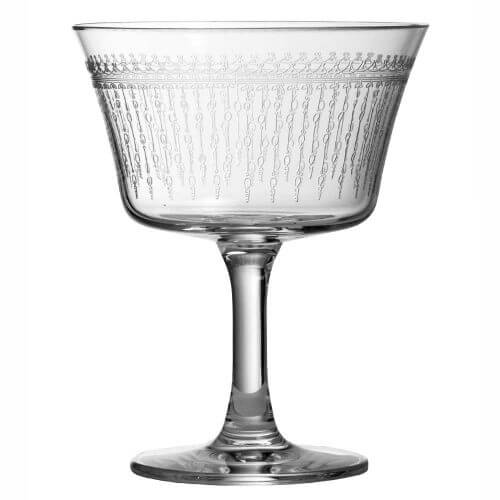 Retro Fizz 1920 Cocktail Glass, Set of 6