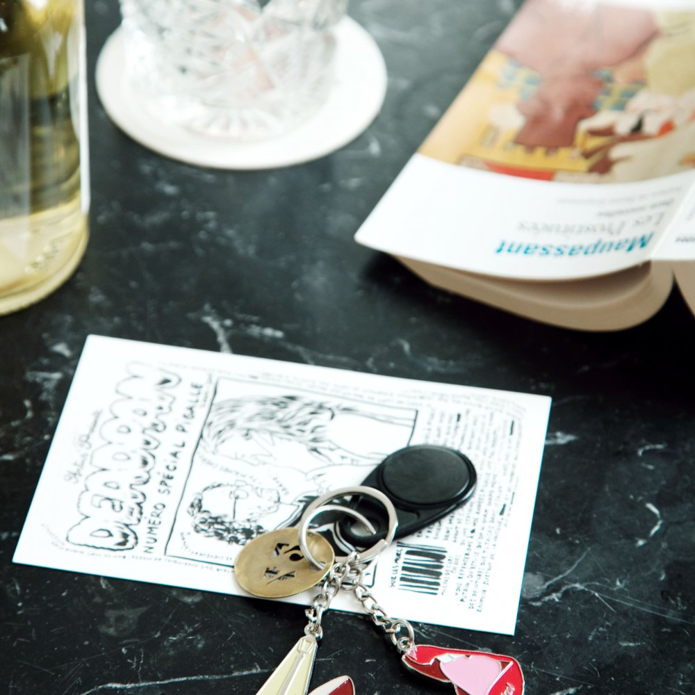 Red Enamel Lips Keyring, Jean André x Le Pigalle