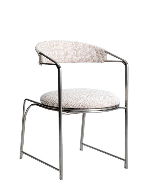 Bacall Chair in Plated Steel