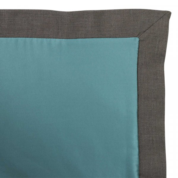 Blue Bed Throw in Cotton