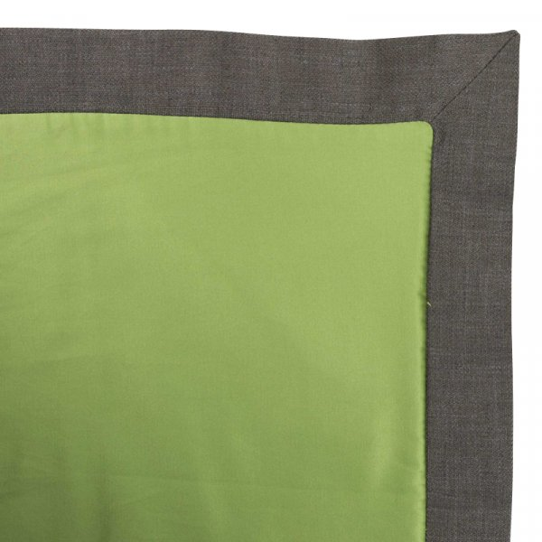 Green Bed Throw in Cotton