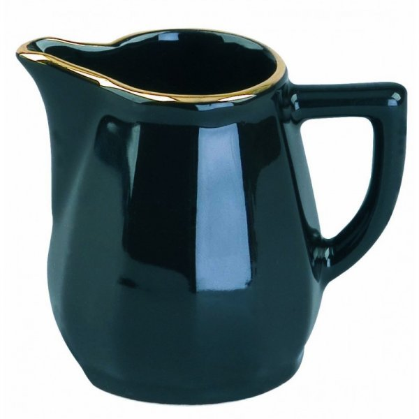 Black with Gold Band Creamer