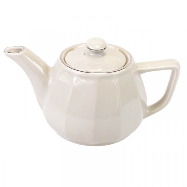 Taupe with Platinum Band Teapot
