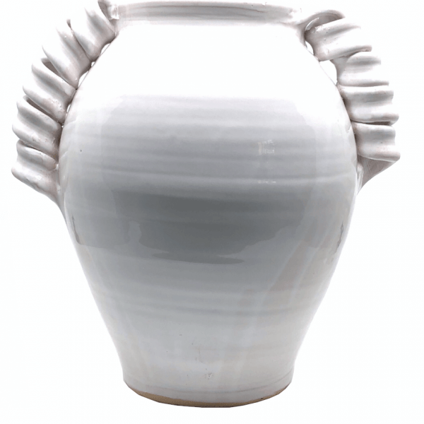Carolina Irving and Daughters Twisted White Vase