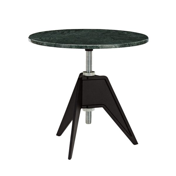Screw Side Table Green Marble Top 600mm