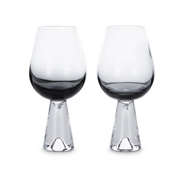 Tank Wine Glasses Black, Set of 2