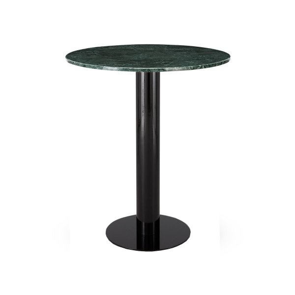 Tube High Table Green Marble Top 900mm
