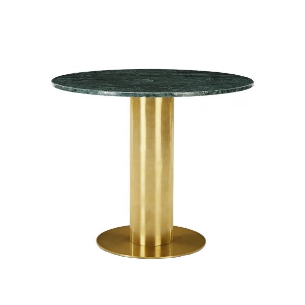 Tube Table Green Marble Top 900mm