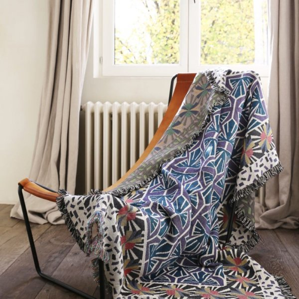 Tile Design Throw in Cotton