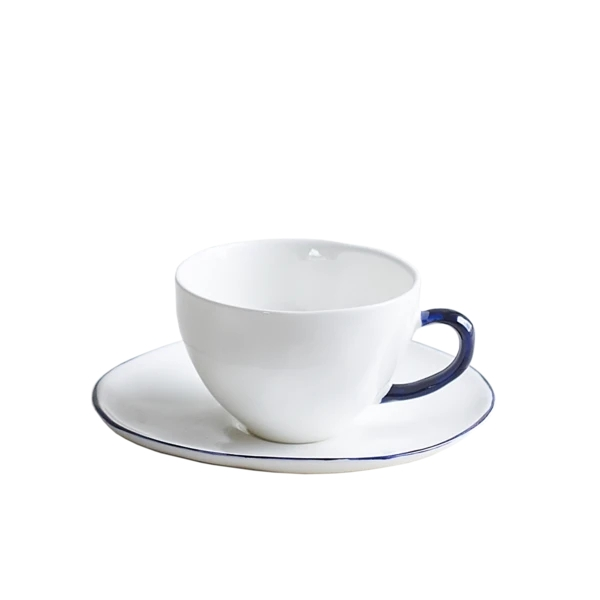 Cobalt Teacup & Saucer, Set of 6