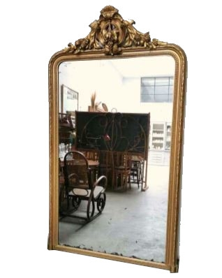 Large Vintage Mirror Early 20th