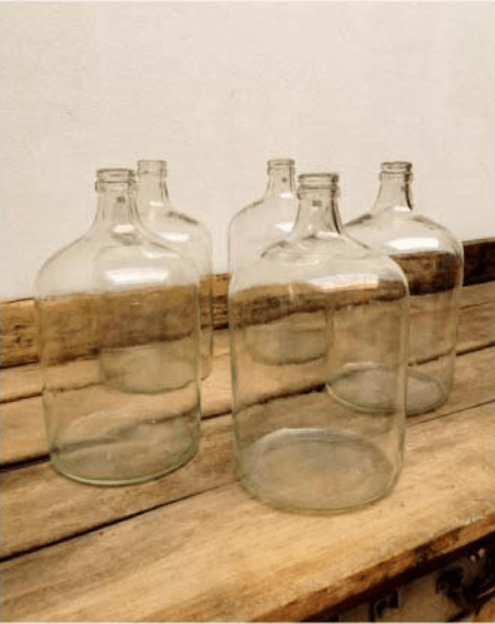 Large Vintage Blown Glass Carboys