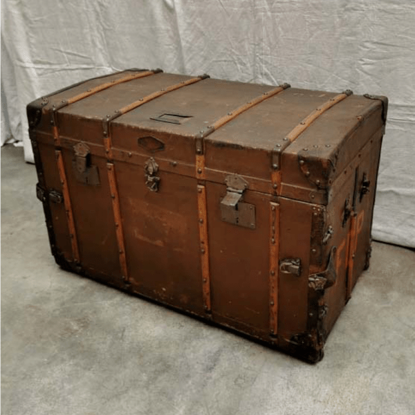 Large Vintage Trunk with Drawers