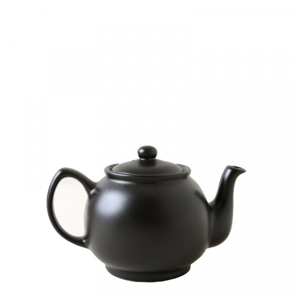 Black Ceramic Teapot