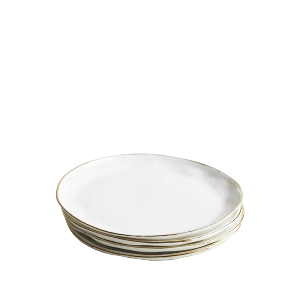 Gold Cake Plates, Set of 6