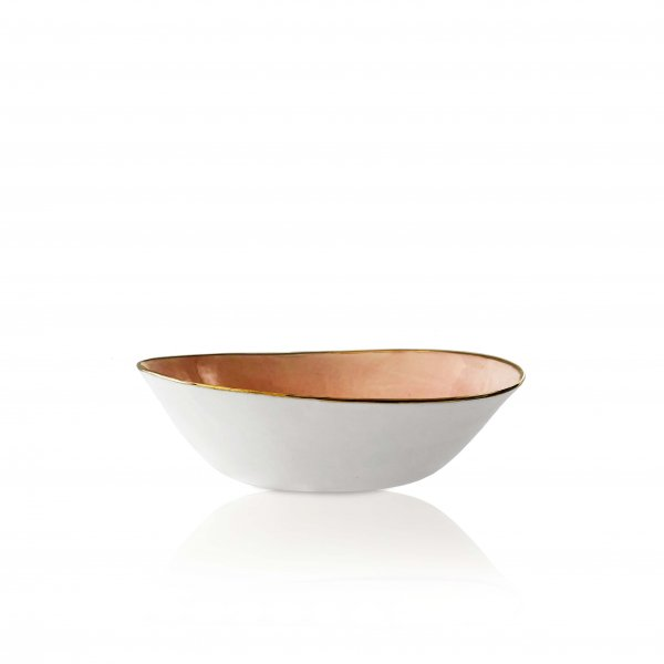 Hand Made Bowl with Gold Rim
