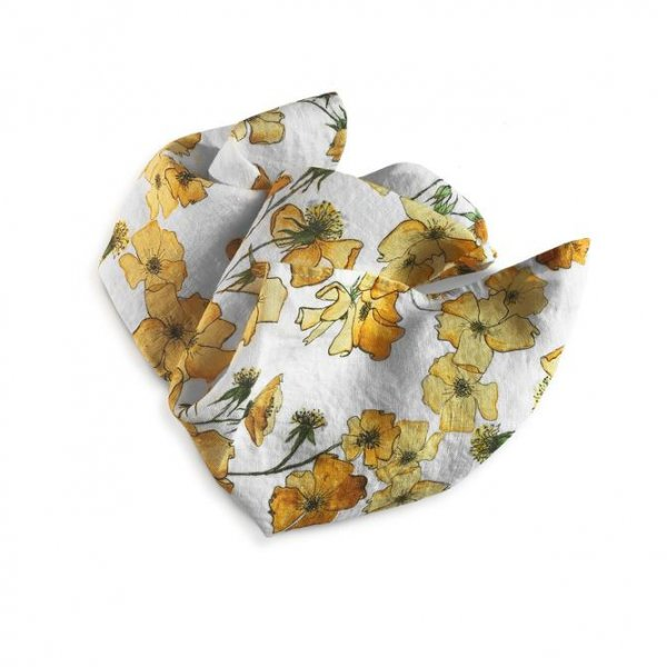 Yellow Rose Linen Napkins