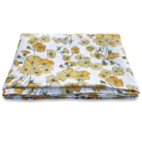 Yellow Rose Linen Table Cloth