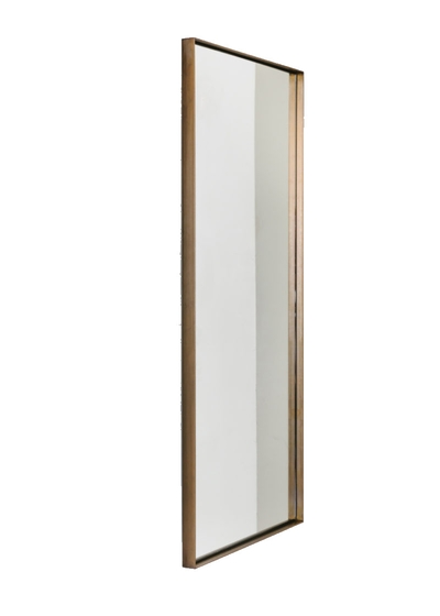 Tall Edie Mirror in Aged Brass