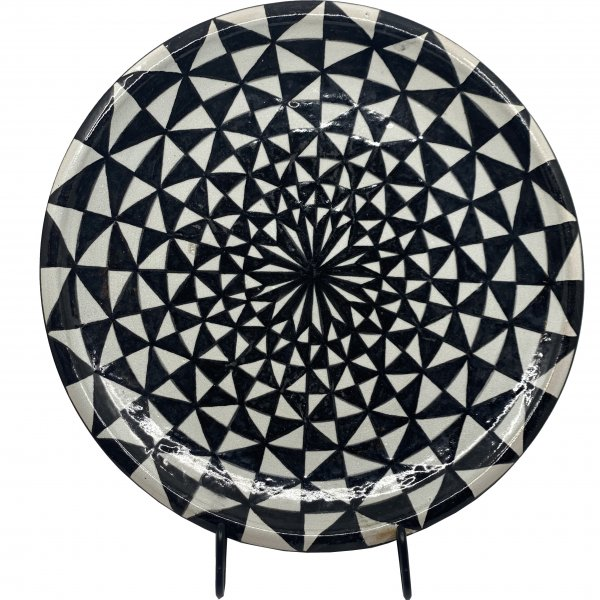 Black and White Morrocan Platter