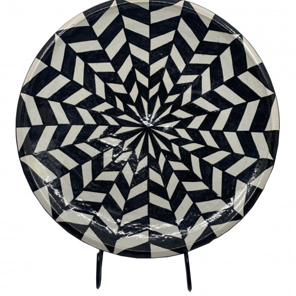 Black and White Morrocan Platter – Large
