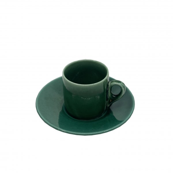 Green Espresso Cup and Saucer