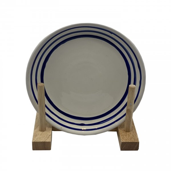 Hand Painted Blue Paint Plate