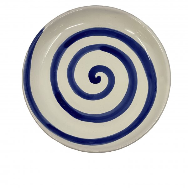 Hand Painted Spiral Plate
