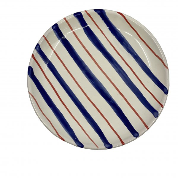 Hand Painted Striped Side Plate