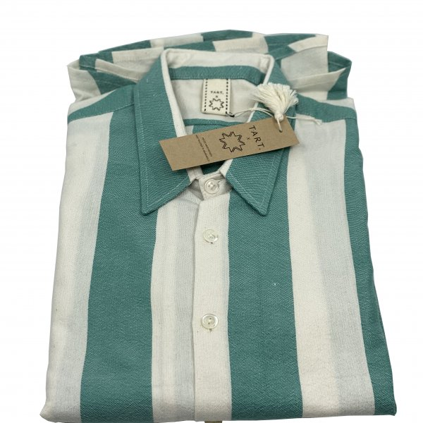 Hand Woven Striped Shirt – One Size