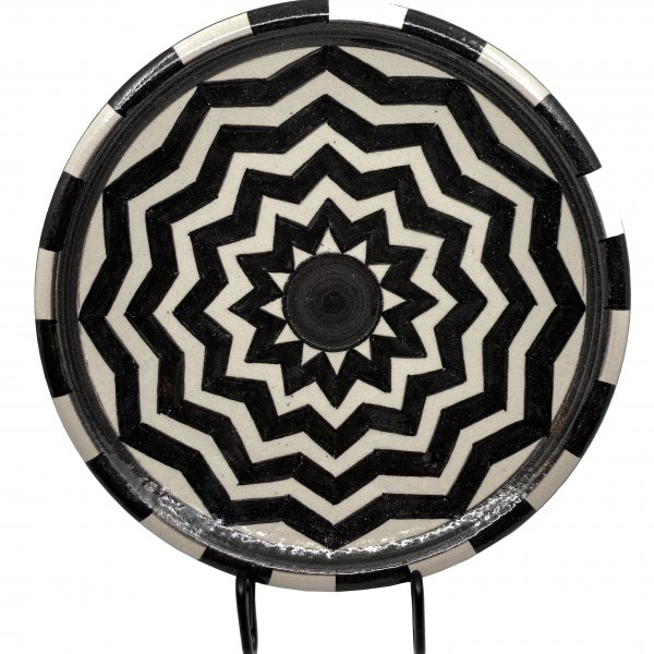 Small Black and White Morrocco Platter