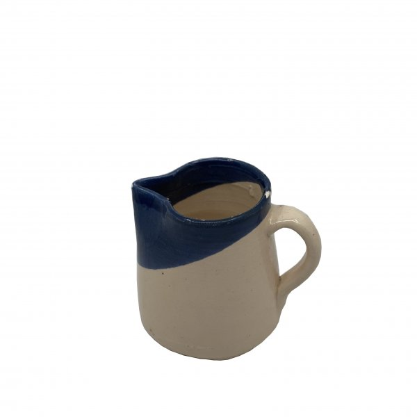 Small Terracotta Blue and White Jug
