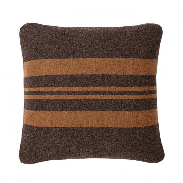 Brown Multicolor Walden Striped Lambswool Pillow