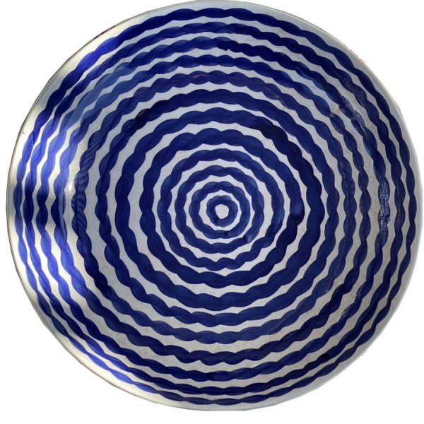 Cobalt Squiggle Serving Bowl