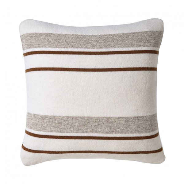 Cream Multicolor Walden Striped Lambswool Pillow