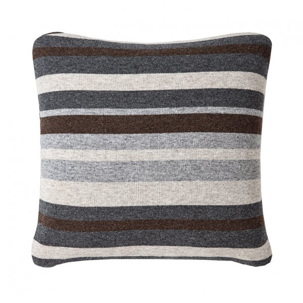 Grey Multicolor Walden Striped Lambswool Pillow