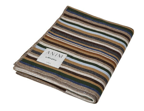 Multicolor Walden Striped Lambswool Throw
