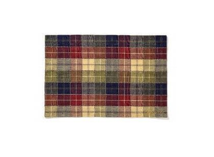 Multicolor Checked Cotton Placemat