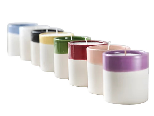 White Clay Candle