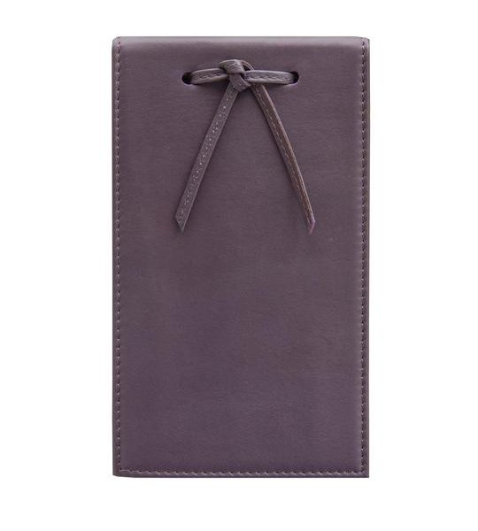 Leather Telephone Pad Aubergine