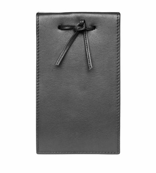 Leather Telephone Pad Black