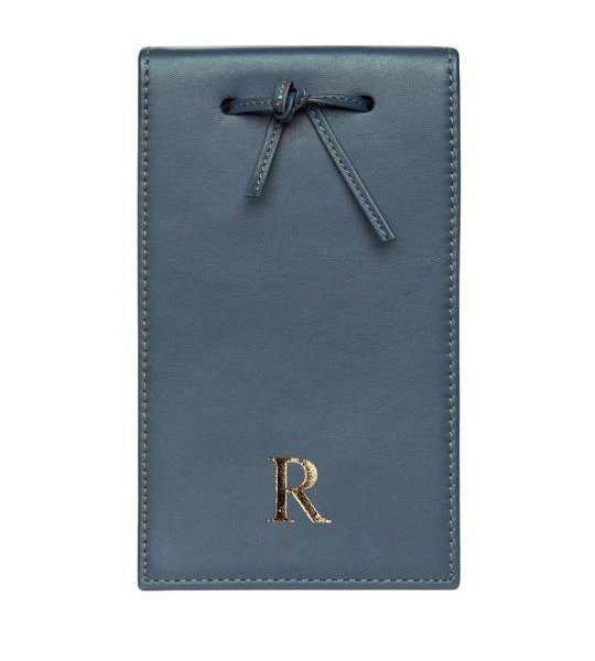 Leather Telephone Pad Navy