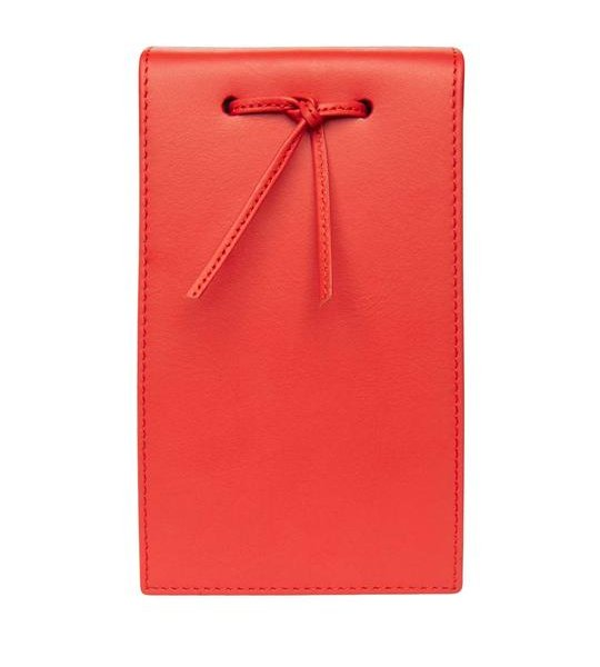 Leather Telephone Pad Red