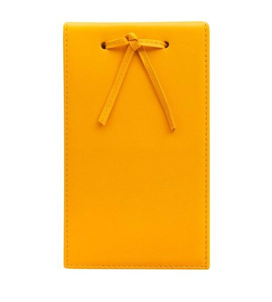 Leather Telephone Pad Yellow